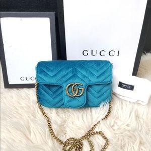 Gucci marmont velvet mini shoulder crossbody bag